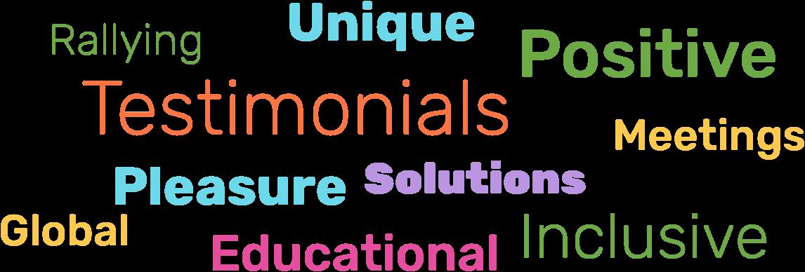 Rallying Unique Positive Testimonials Meetings Pleasure Solutions Global Educational Inclusive